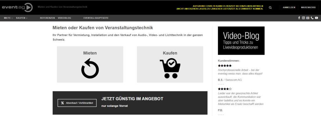 Neuer Webshop